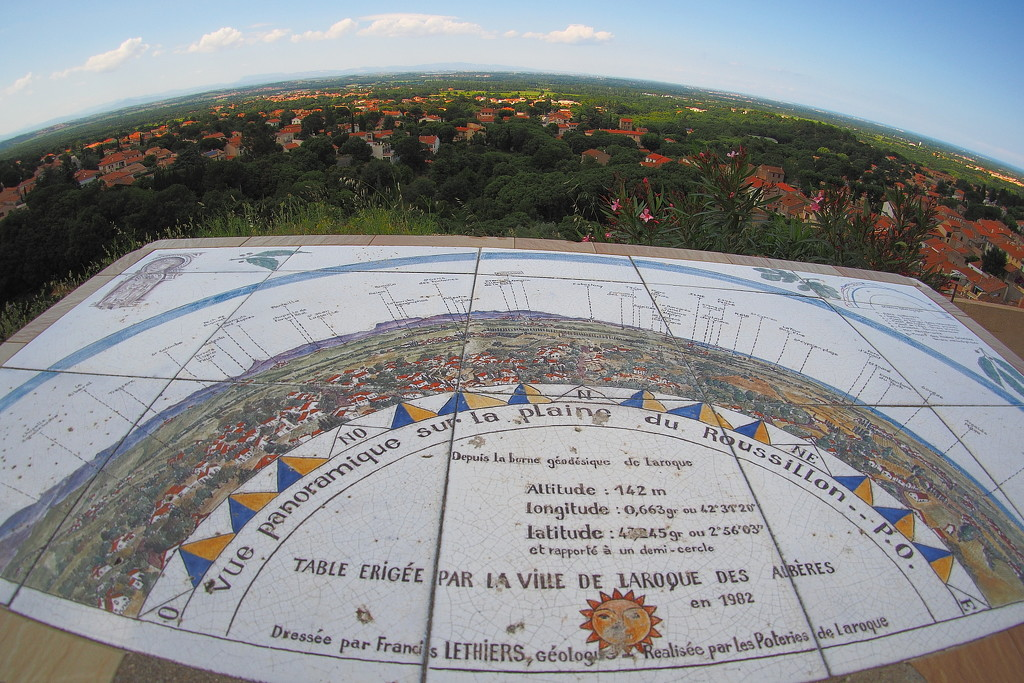 Panoramic view of the Roussillon plain by laroque