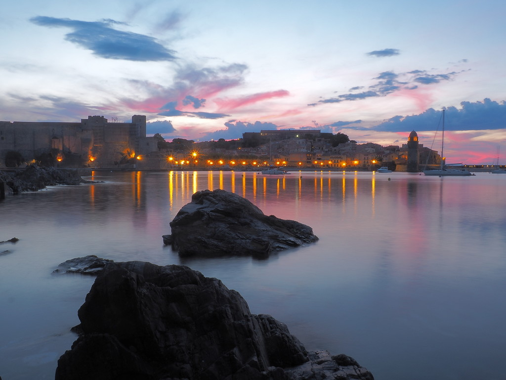 Sunset at Collioure by laroque