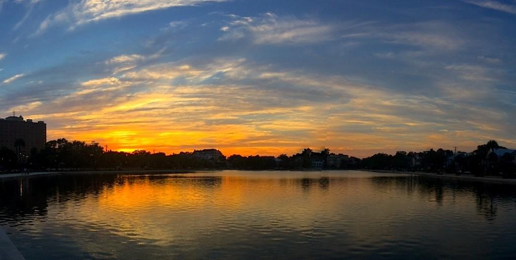 Sunset, Colonial Lake, Charleston, South Carolina by congaree