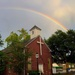 Rainbow over church, downtown Charleston, SC by congaree