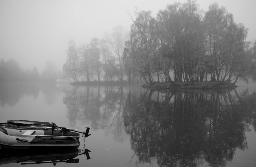 b&w reflections: No.7: on the lake by quietpurplehaze