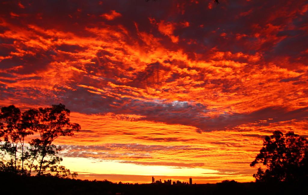 Brisbane City Sunrise by terryliv