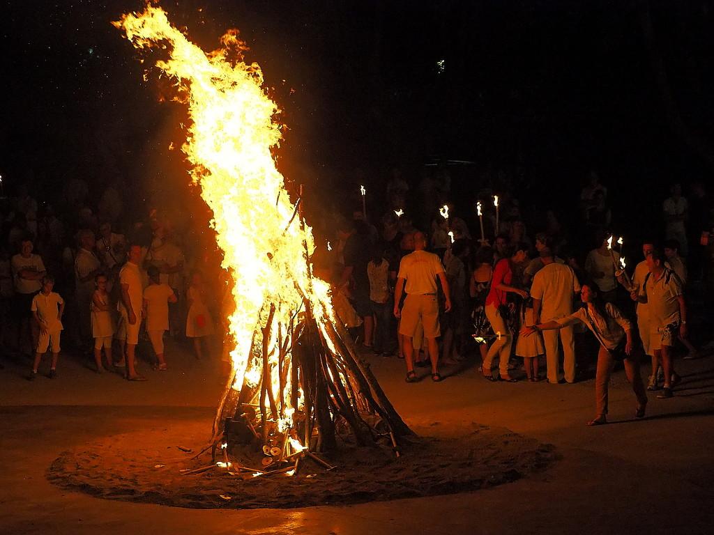 Bonfire at the Fête de St.Jean by laroque