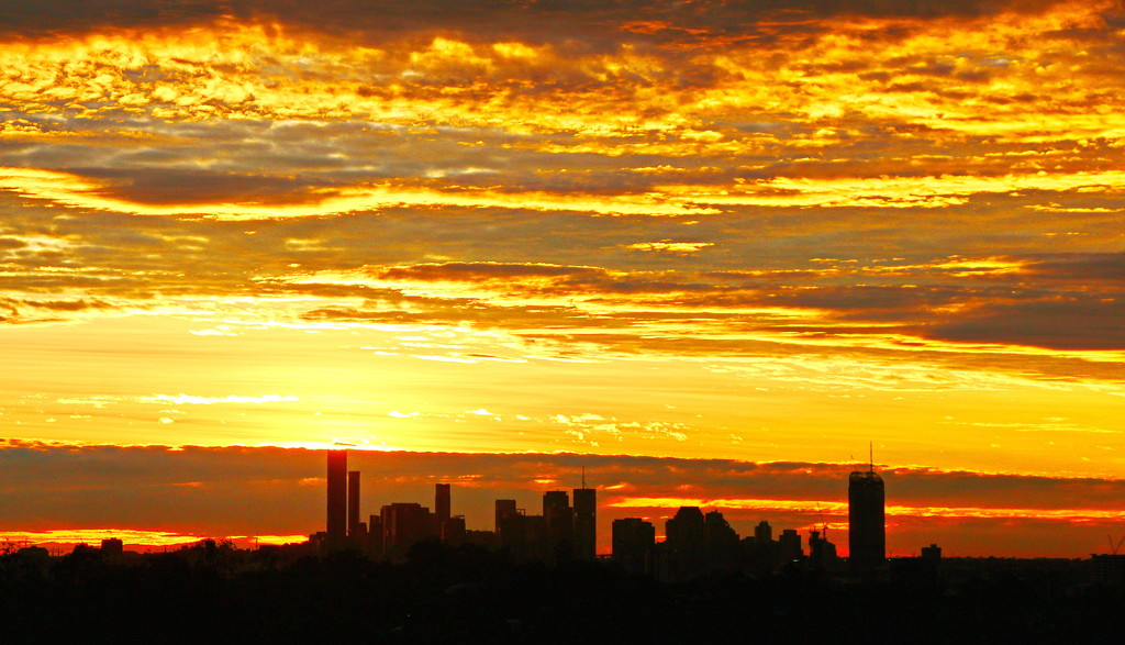 Brisbane City Sunrise by terryliv