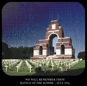 1st Jul 2016 - We will remember them.