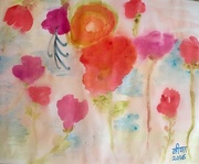 6th Jul 2016 - Watercolour painting of flowers.