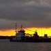 Sunset at the mouth of the Ashley River, Charleston Harbor, Charleston, SC by congaree