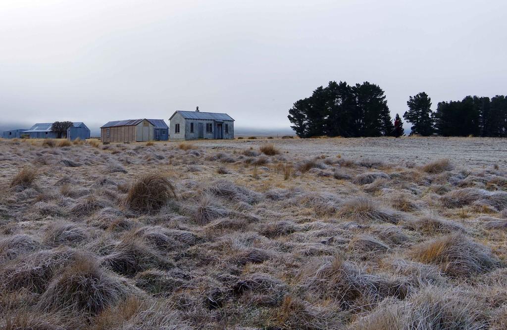 Shepherd's cottage - frosty foggy morning by maureenpp