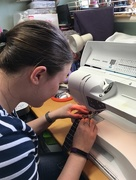 2nd Jul 2016 - Becka at the Sewing Machine!