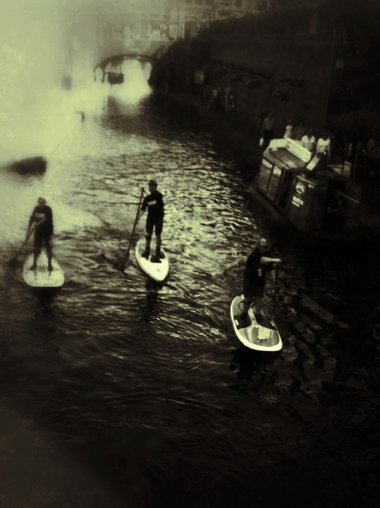 Paddle boarders by rachelwithey