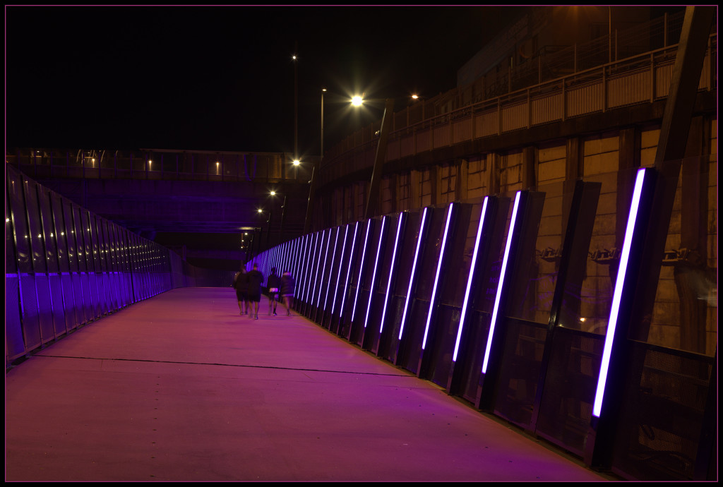 The pink cycleway by dide