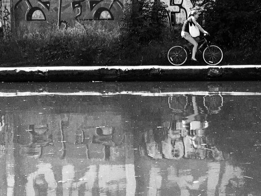 Cycling canalside by rachelwithey