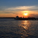 Sunset, Ashley River at Charleston Harbor, Charleston, SC by congaree