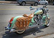 30th Jul 2016 - Sea Green Motorcycle 2
