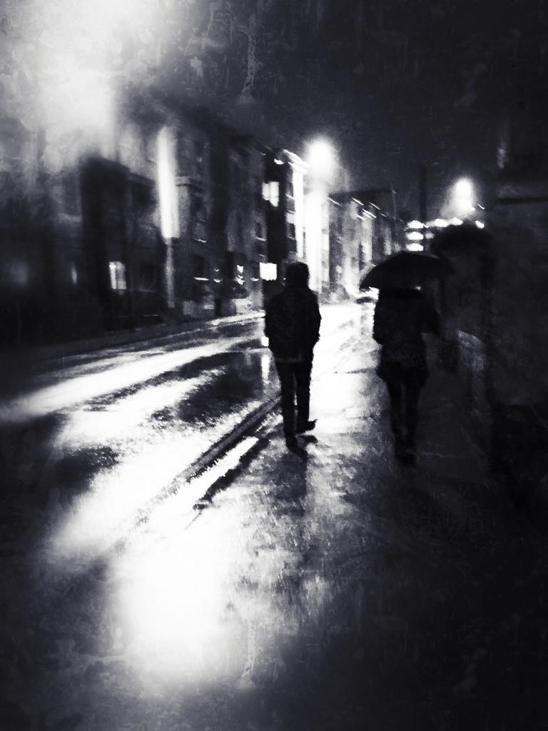 Rainy night by rachelwithey