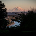 Rainier Sunset  by epcello