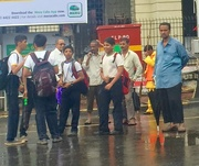 4th Aug 2016 - Schoolboys at the Busstop