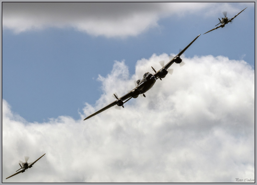 Lancaster and Spitfires by pcoulson