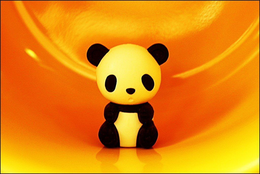 Panda in Yellow by olivetreeann