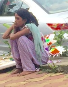 12th Aug 2016 - Young lady selling on the roadside