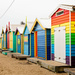 Rainbow Huts at Brighton Beach  by nicolecampbell