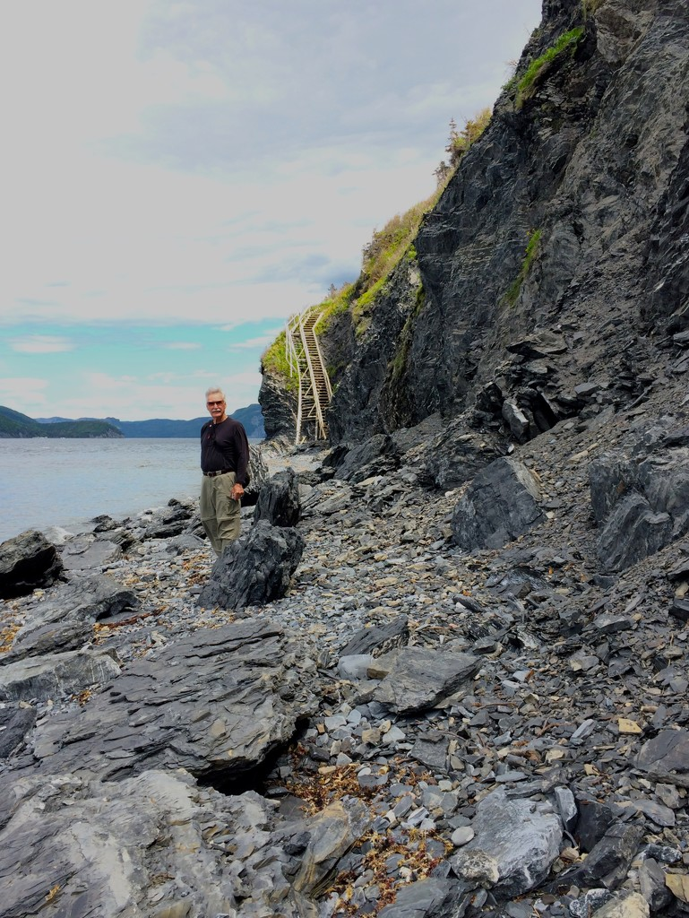 Rock Climbing at Cox's Cove by selkie