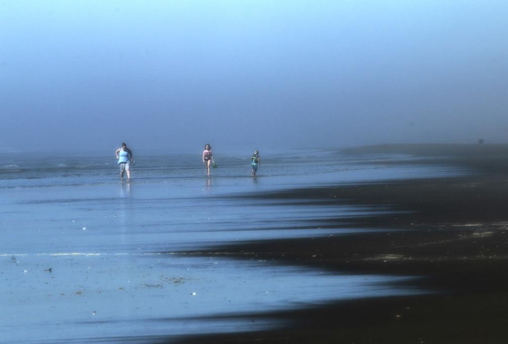 Beach walkers by nanderson