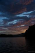 14th Aug 2016 - Sunset on Lake James Orton effect