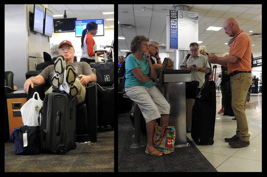 Airport Travelers by homeschoolmom