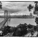 Bay Bridge from Yerba Buena Island 1989 by joysabin