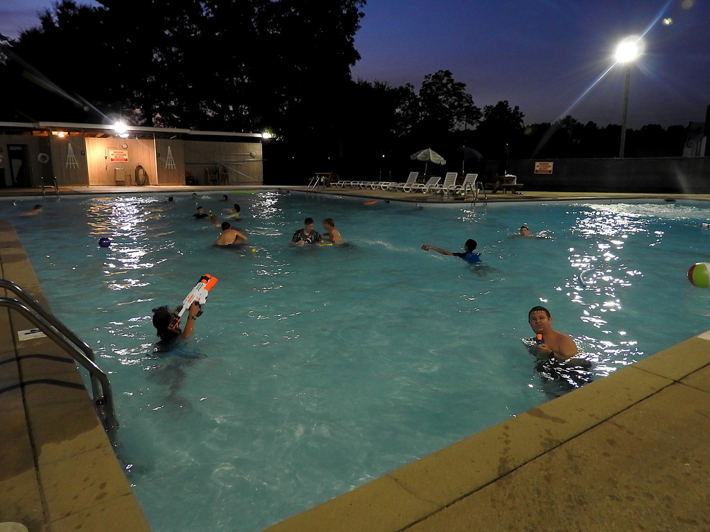 Boy Scout pool party by homeschoolmom