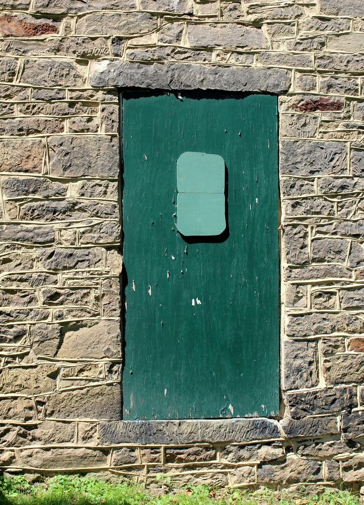 Green door by mittens