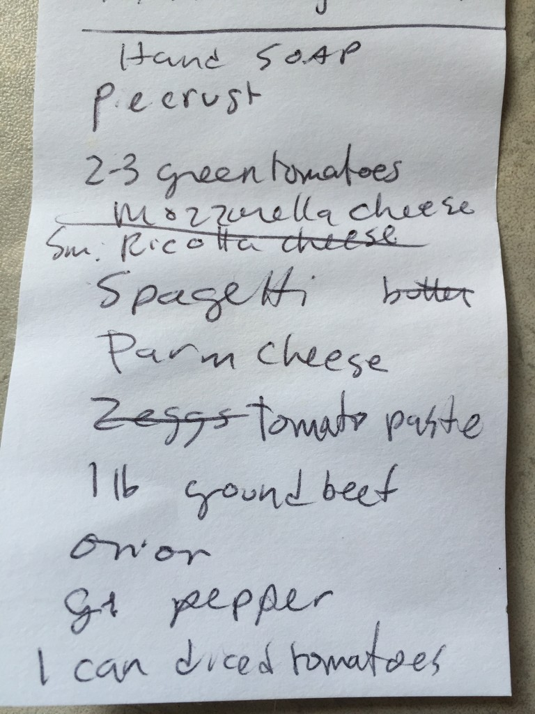Forgot Shopping list, please send pic by lifepause