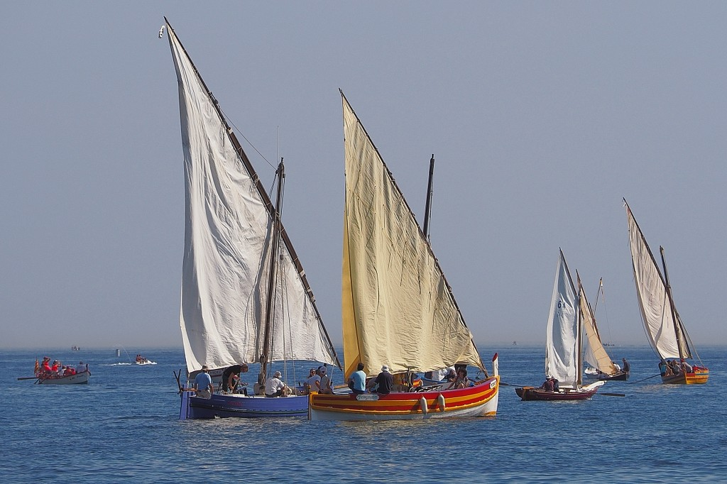 Boats at Paulilles on Sunday by laroque