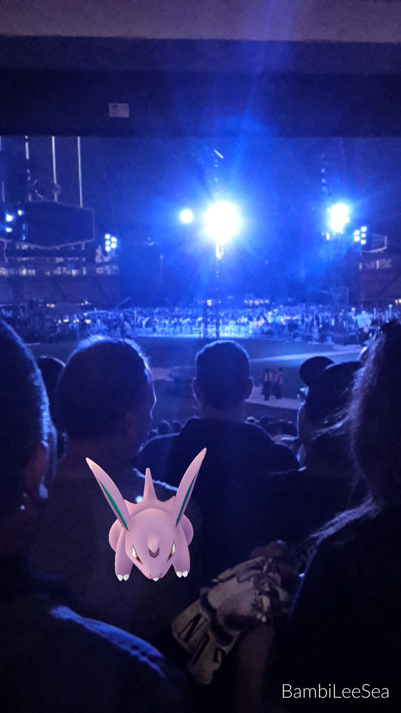 Pokemon caught during Guns N' Roses by bambilee