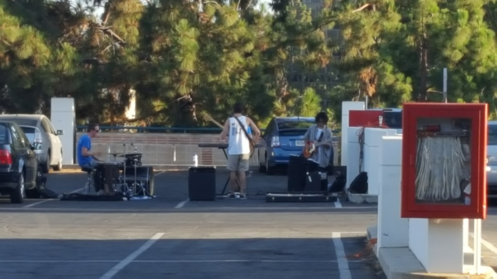 Parking lot rehearsal by bambilee