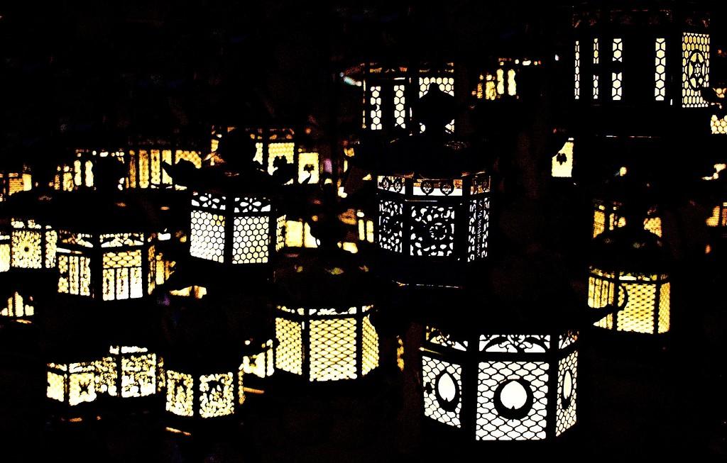 Lanterns in the Dark by jyokota