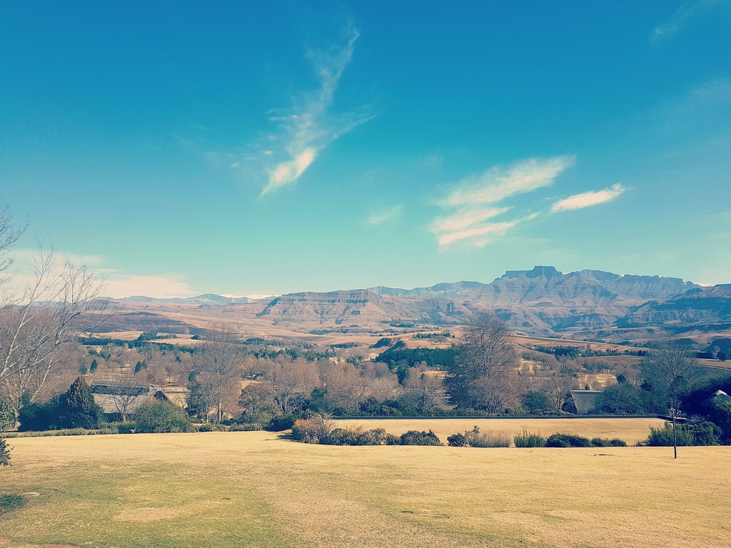 View of the Drakensberg by moya