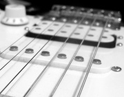 16th Sep 2016 - Black and white guitar in a black and white room!