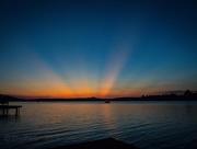 16th Sep 2016 - Crepuscular Sunset