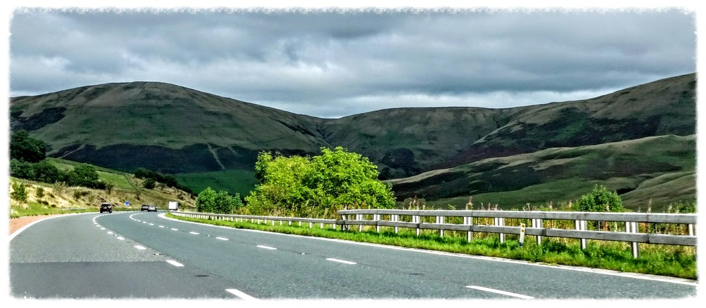 On our way to Scotland for a few weeks with Bertha (that's the caravan) - this was taken from car as going through lake district!  by lyndamcg