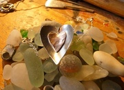 27th Sep 2016 - Handmade silver and copper heart...