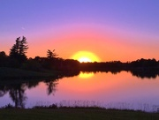9th Oct 2016 - sun almost down