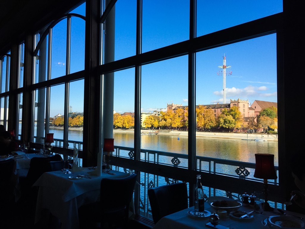 Restaurant by the Rhine river  by cocobella