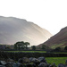 sunlight peeking through the hills.  Wasdale by callymazoo