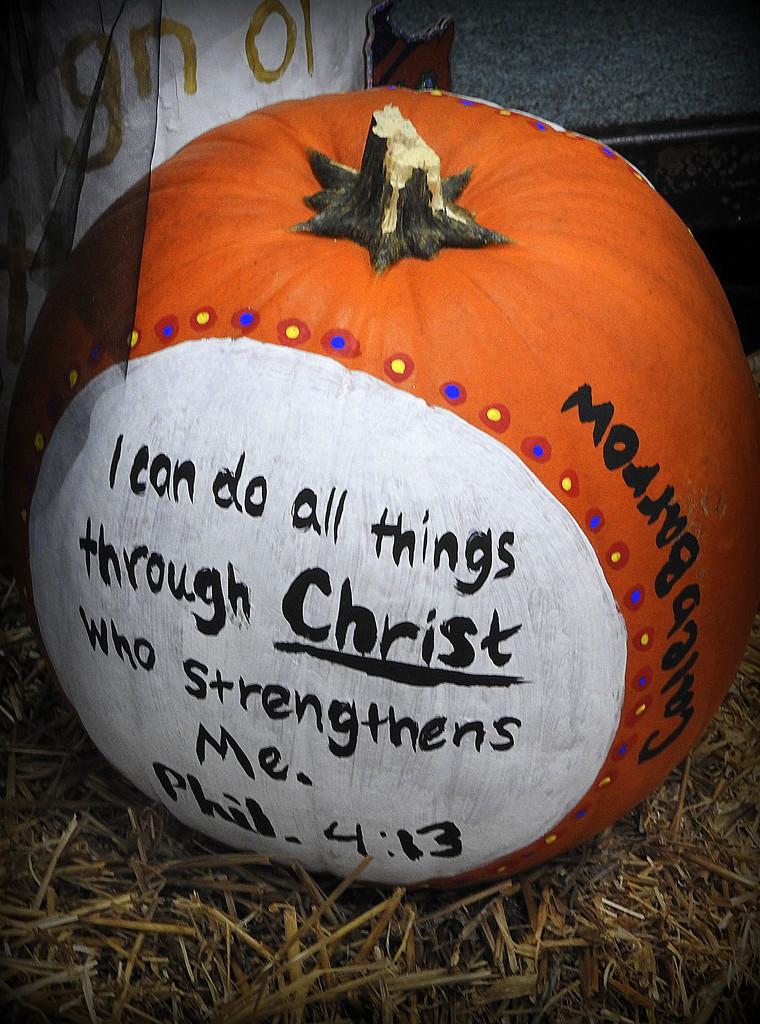 Painted Pumpkin by homeschoolmom