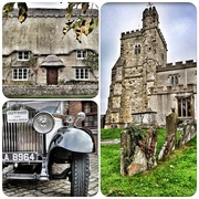 2nd Nov 2016 - Thank you for viewing and commenting on my past few days pics - and getting me on the tp and pp! Another collage from Waddesdon - I liked the sign on the vintage car, and the car itself of course!!