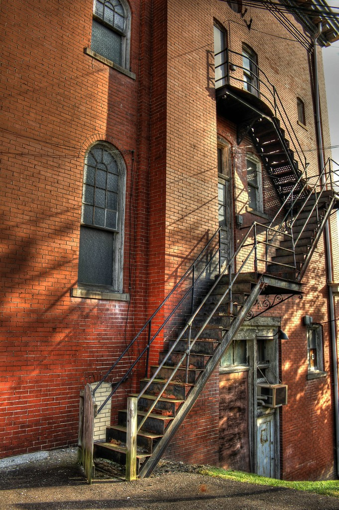 Fire escape by mittens