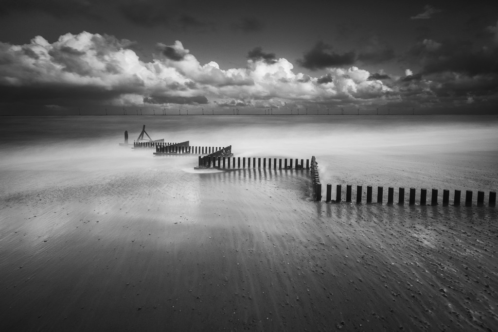 Day 311, Year 4 - Monochrome ZigZags At Caister by stevecameras