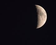 7th Nov 2016 - Almost half moon